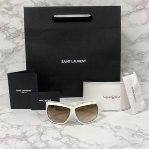 BRAND NEW WITH TAGS YSL White Sunglasses with Case